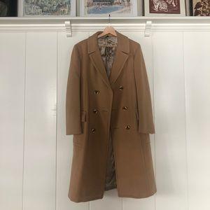 ▪️tortoise button long jacket▪️camel tan coat